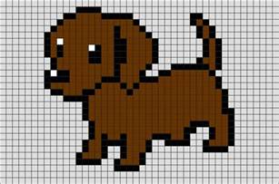 dog pixel art brik