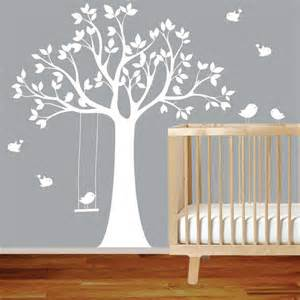 White Tree Wall Sticker vinyl wall decal stickers bird white tree set nursery wall sticker