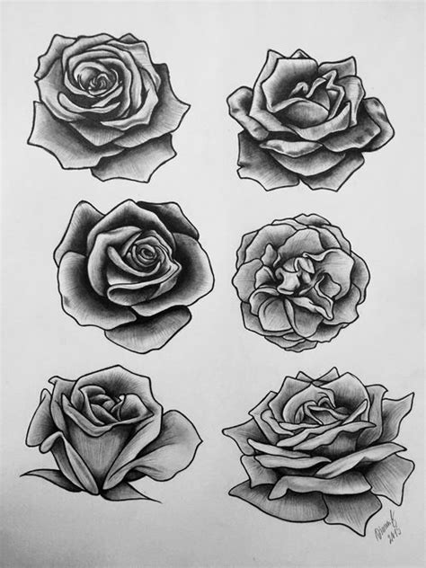 black rose tattoo design grey and black roses tattoos designs
