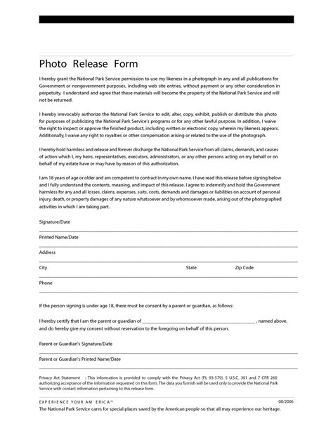 photo release form template 53 free photo release form templates word pdf