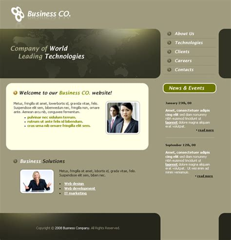 Professional Css Template 3254 Clean Corporate Website Templates Dreamtemplate Professional Website Templates