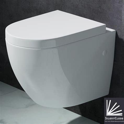 toilettenbecken mit bidet edle design toilette h 196 nge wc mit silent sitz neu