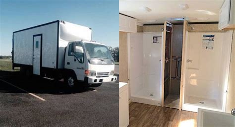 Mobile Showers For The Homeless by Shower To The People Box Truck Delivers Showers To