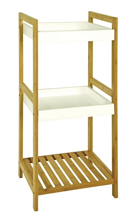 bamboo bathroom shelves linda bamboo bathroom shelf unit 14391