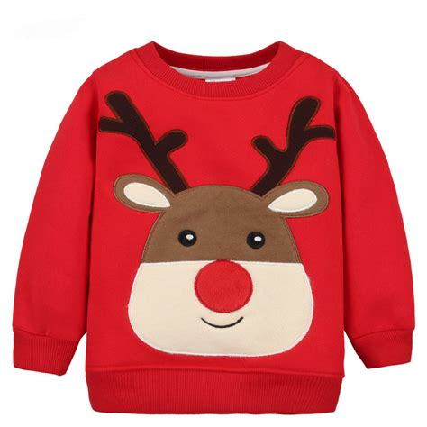 christmas pattern hoodies thick sweatshirts with christmas pattern for boys