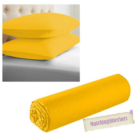 mustard yellow bedding mustard yellow luxury microfibre bed linen bedding fitted sheets or pillowcases ebay