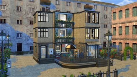 shop apartments dinha gamer apartment with coffee shop sims 4 downloads