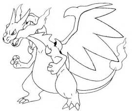 mega charizard coloring page coloring pages charizard picture 3