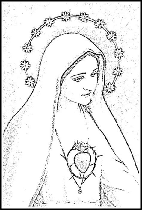 virgen maria para colorear para nios apexwallpapers com la virgen de fatima dibujo apexwallpapers com