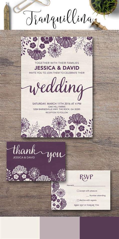 printable ornate winter wedding invitation template