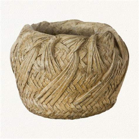 Woven Basket Planter woven basket planter eclectic outdoor pots and
