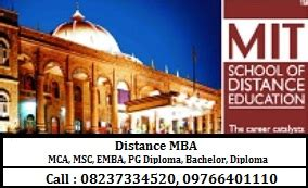 Mit Distance Learning Mba by Mit School Of Distance Education In Kothrud Pune 411038