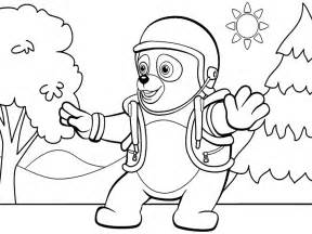 dibujos colorear agente especial oso imprimir gratis
