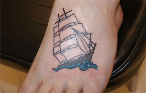 tattoo boat photo 25 cute foot tattoos which look amazing creativefan