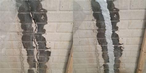 repairing basement wall cracks cracked walls absolutely basement waterproofing