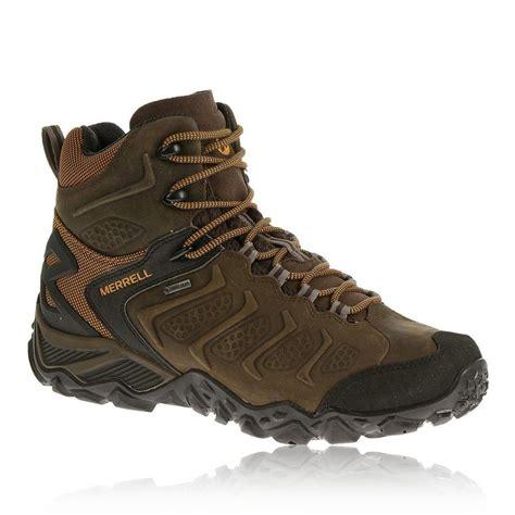 mens brown hiking boots merrell chameleon shift mid tex mens brown walking