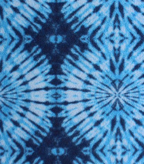 tie dye upholstery fabric anti pill fleece fabric blue tie dye circle jo ann