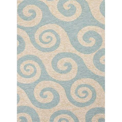 8x8 outdoor rug jaipur indoor outdoor coastal pattern blue ivory polypropylene area rug 8x8