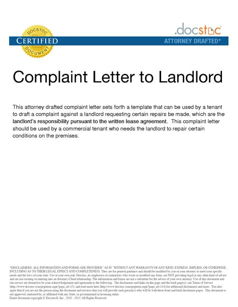 noise complaint letter template from landlord complaint letter to landlord template 28 images how to