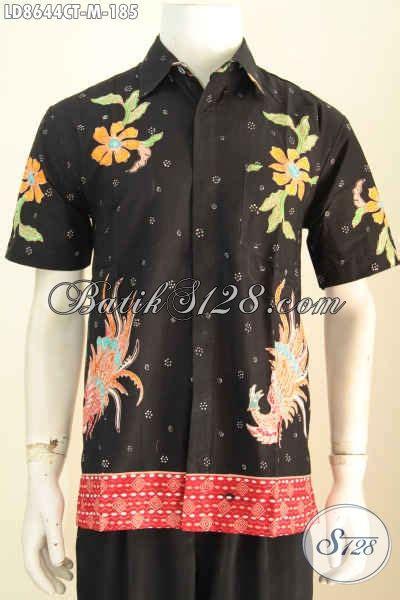 Baju Casual Terkini hem batik kerja cowok baju batik casual pria terkini berbahan halus lengan pendek motif elegan