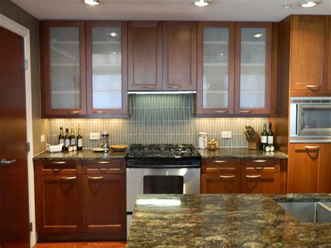 cherry wood kitchen cabinets with glass doors tehranway