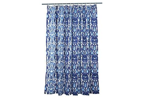 Ikat Shower Curtain Blue