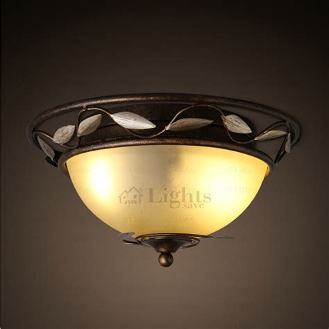 rod iron ceiling lights antique wrought iron leaf fixture flush mount ceiling light