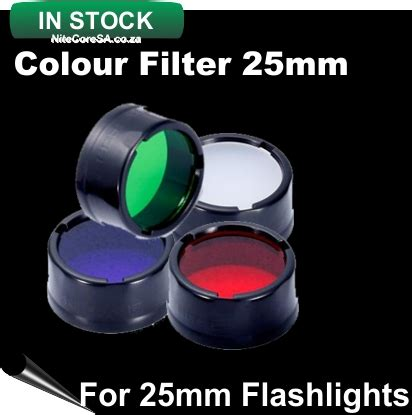 Nitecore Beam Colour Filter For Flashlights 25mm Nfg25 colour filters 25mm nfg25 nfr25 nfb25 nfd25