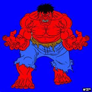 hulk rojo colorear hulk rojo imprimir