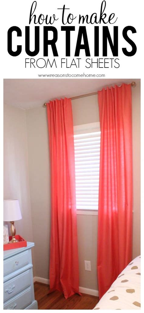 cheapest way to make curtains 17 best ideas about flat sheet curtains on pinterest
