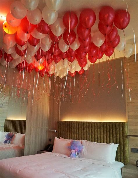 balloons in room amazing valentines day gifts for gifts surprises oyehappy