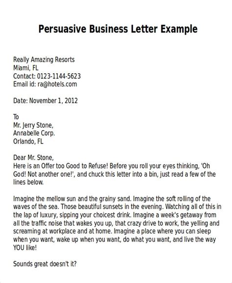 Business Letter Format Exle how to write a convincing letter allponno