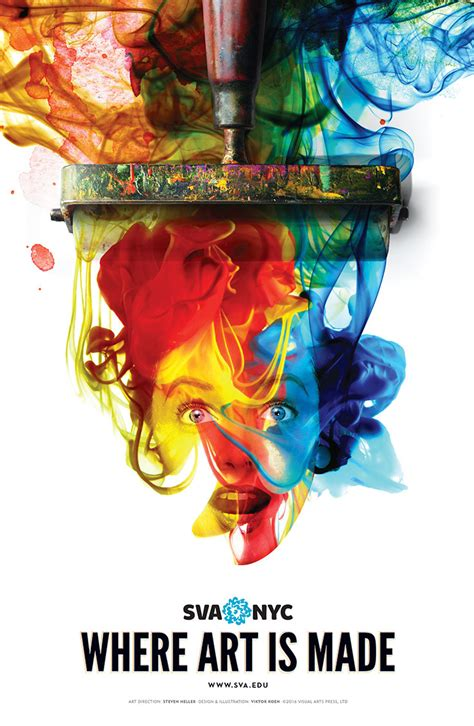 colorful posters sva s colorful new subway poster bursts just in time for
