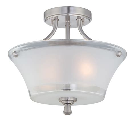 Semi Flush Mount Ceiling Light Fixtures Lite Source Ls 5732 Niccolo Semi Flush Mount Ceiling Light Fixture