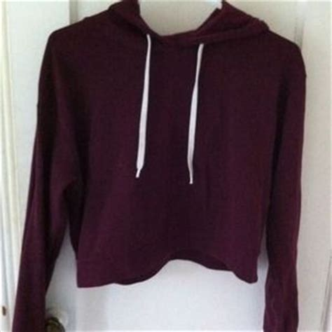 Sweater Di H M 35 h m sweaters h m burgundy cropped hoodie american a inspired from s closet on