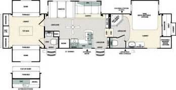 Fifth Wheel Bunkhouse Floor Plans Sandpiper Fifth With Bunks Floor Plan Trend Home Design