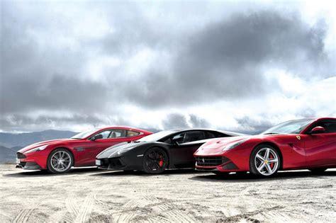 V Lamborghini F12 V Lamborghini Aventador V Aston Martin
