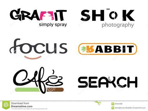 unica lettere lettere di progettazione di tipografia illustrazione