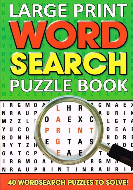 and large print books large print word search puzzle book green
