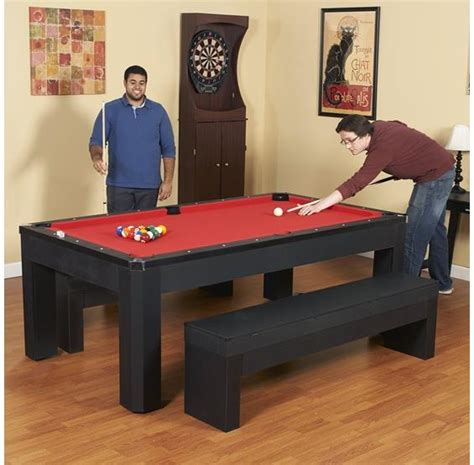 pool table combo set park avenue 7 ft pool table combo set with benches pc pools
