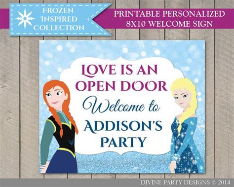 frozen printable welcome 17 best images about frozen birthday party ideas on