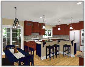kitchen layout ideas with island shaped small cabinet