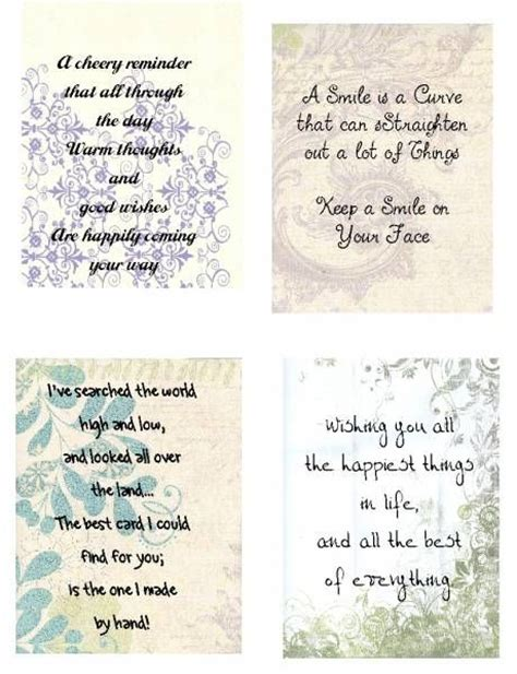 Thinking Of You Verses For Handmade Cards - 87 best card verses images on cards events