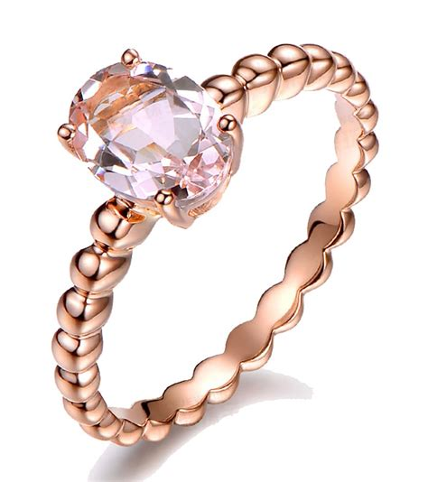 1 50 carat solitaire morganite gemstone engagement ring in