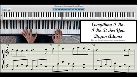 tutorial piano bryan adams piano tutorial everything i do i do it for you by bryan