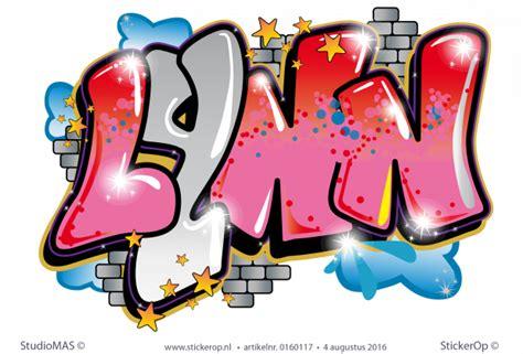 muursticker full colour graffiti vrije hand lynn