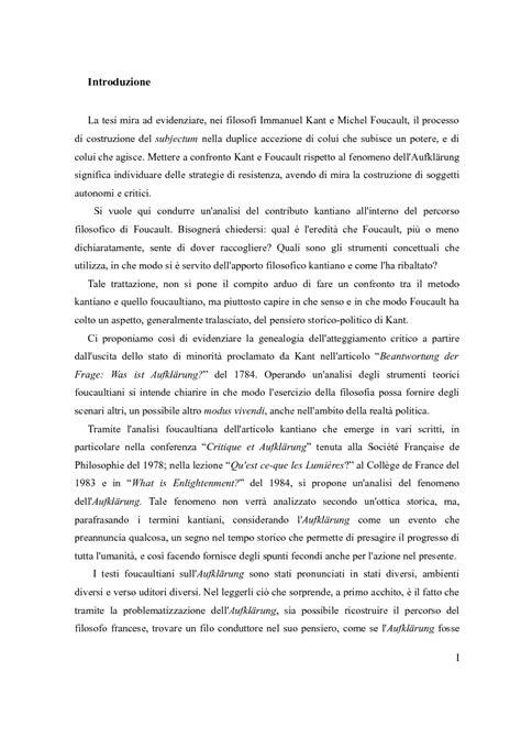 L'eredità kantiana nella prospettiva di Michel Foucault