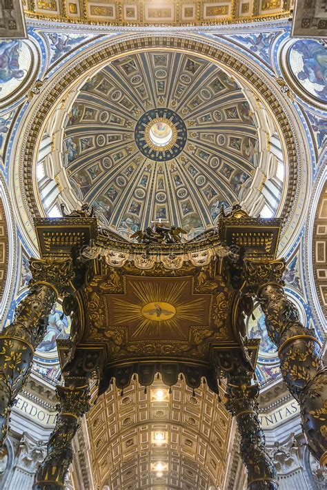 colorful on vatican ceiling dome st s basilica inside stock photo image 45391444