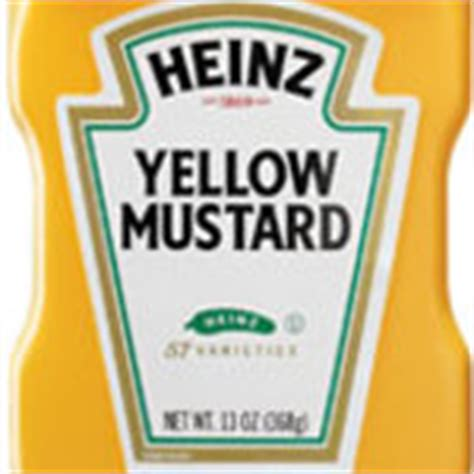 heinz label template heinz 174 yellow mustard calories and nutrition facts