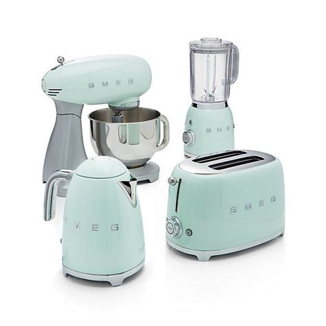 green kitchen appliances smeg pastel green retro electric kettle crate and barrel
